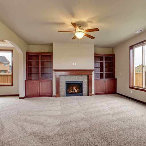 Empty Carpeted Living Room